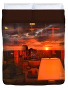 Pipestem Sunset Duvet Cover