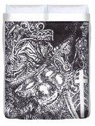 Pirate Monkey Squid Clam Duvet Cover