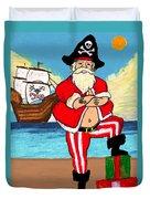 Pirate Santa Duvet Cover