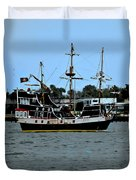 Pirate Ship Of The Matanzas Duvet Cover