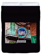 Pirates Alley Cafe Duvet Cover by Bill Cannon