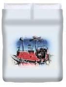 Pirates Ransom - Clearwater Florida Duvet Cover