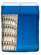 Pisa Leaning Tower Duvet Cover