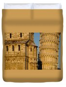 Pisa Tower And Cathedral Duvet Cover