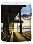 Pismo Pier Sunset II Duvet Cover