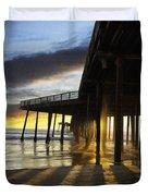 Pismo Pier Sunset IIi Duvet Cover