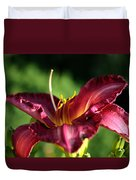 Pistons Of The Pink Yellow Lily Duvet Cover