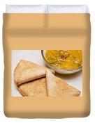 Pita Bread With Brocoli Cheese Dip Duvet Cover