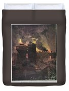 Pittsburgh: Furnaces, 1885 Duvet Cover