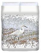 Pixel Cowbird Duvet Cover