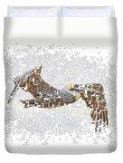 Pixel Pelicano Duvet Cover