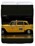 Pixel Taxi Duvet Cover