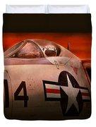 Plane - Pilot - Airforce - Go Get Em Tiger  Duvet Cover by Mike Savad