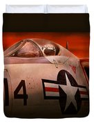 Plane - Pilot - Airforce - Go Get Em Tiger  Duvet Cover