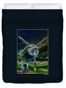 Plane Engine And Prop Duvet Cover
