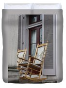 Plantation Rocking Chairs Duvet Cover