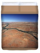 Plants Grow Along Desert River Drainage Duvet Cover