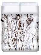 Plants In Winter Duvet Cover