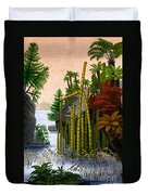 Plants Of The Triassic Period Duvet Cover