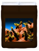 Plasmodium Gallinaceum, Sem Duvet Cover by Science Source