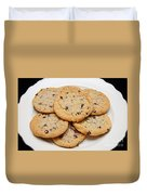 Plate Of Chocolate Chip Cookies Duvet Cover