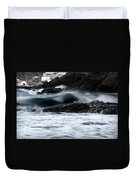 playing with waves 2 - A beautiful image of a wave rolling in noth coast of Menorca Cala Mesquida Duvet Cover