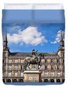 Plaza Mayor Duvet Cover