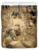 Plebes Navigate The Low Crawl Obstacle Duvet Cover