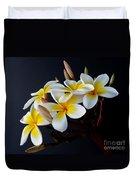 Plumeria Bouquet Duvet Cover