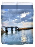 Plymouth Sunset Duvet Cover