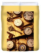 Pocket Watches And Old Keys Duvet Cover
