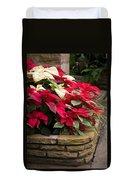 Poinsettia Garden Duvet Cover