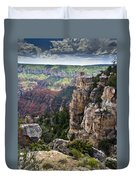 Point Imperial Cliffs Grand Canyon Duvet Cover