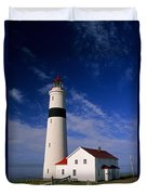 Point Lamour Lighthouse Duvet Cover