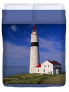 Point Lamour Lighthouse Overlooking Duvet Cover