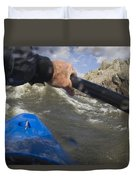 Point Of View White Water Kayaking Duvet Cover
