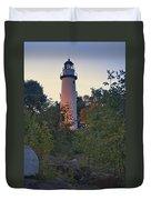 Pointe Aux Barques Lighthouse 7072 Duvet Cover