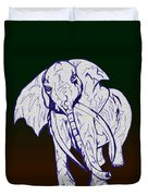 Pointillism Elephant Duvet Cover