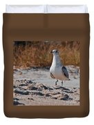 Poised Seagull Duvet Cover