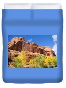 Poison Spider Mesa In The Fall Duvet Cover by Gary Whitton