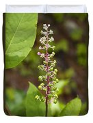 Poke Sallet Blossom Spire - Phytolacca Acinosa  Duvet Cover