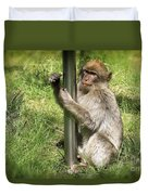 Pole Dancing Macaque Style Duvet Cover