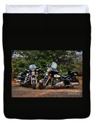 Police Motorcycles Duvet Cover