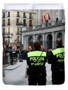 Policia Madrid Duvet Cover
