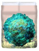 Polio Virus Particle Or Virion Poliovirus 1 Duvet Cover by Russell Kightley