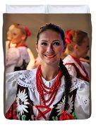 Polish Folk Dancing Girl Duvet Cover