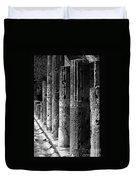Pompeii Columns Black And White Duvet Cover