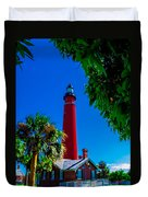 Ponce Inlet Lighthouse 1 Duvet Cover