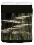 Pond And Grass Abstract Duvet Cover