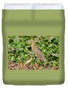 Pond Heron Duvet Cover